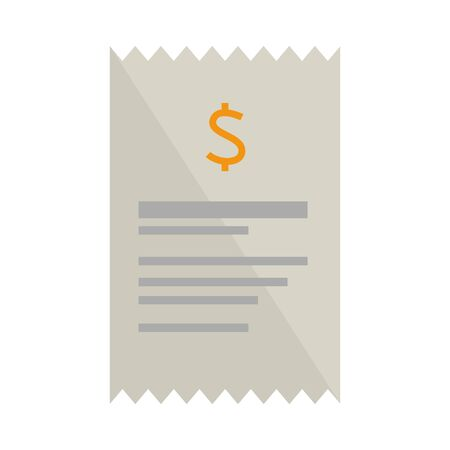 receipt paper isolated icon vector illustration design Illustration