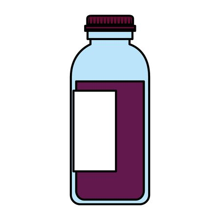 medical plastic bottle with syrup vector illustration design