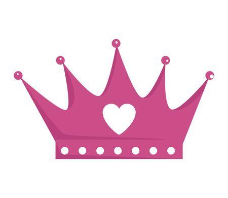 La reine de la couronne avec l'icône coeur vector illustration design