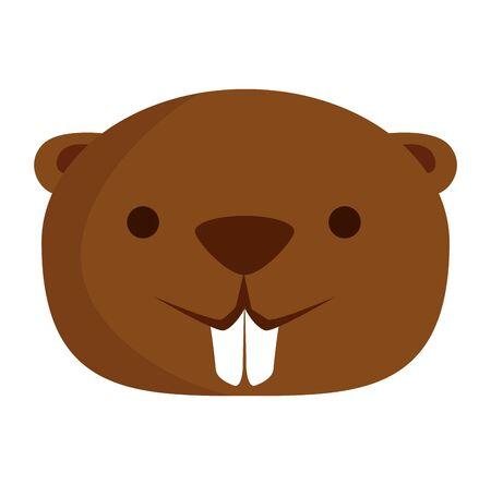 cute beaver mascot animal icon vector illustration design Foto de archivo - 125692666