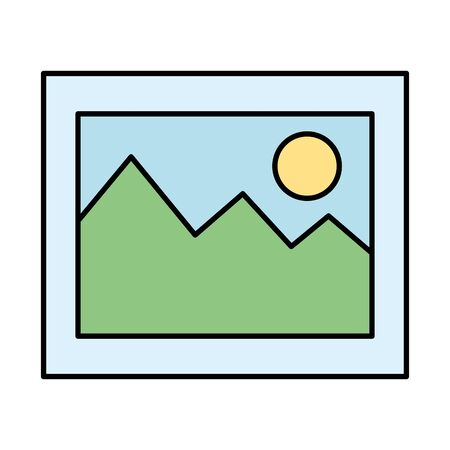 picture file format icon vector illustration design Imagens - 125721224
