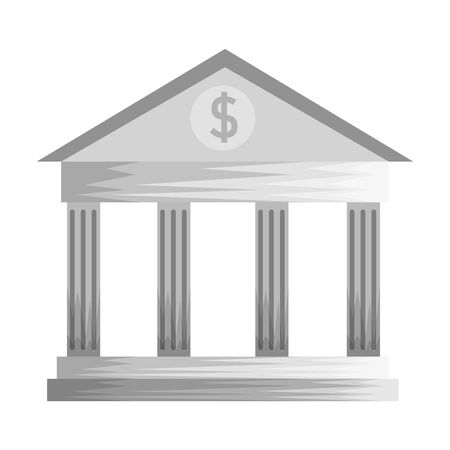 bank building financial isolated icon vector illustration design Illustration