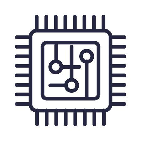 computer processor isolated icon vector illustration design