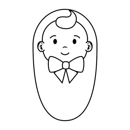 cute little baby boy character vector illustration design 일러스트