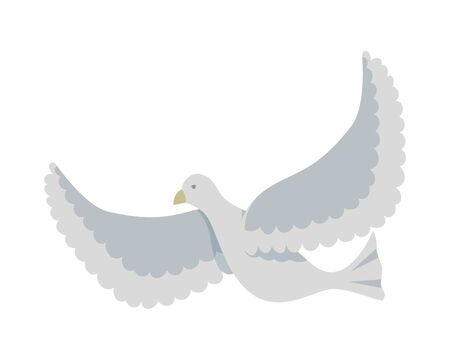 white dove flying bird icon vector illustration design Stok Fotoğraf - 125825445