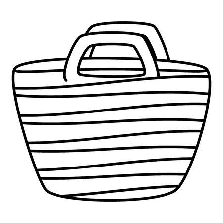 beach hand bag summer icon vector illustration design
