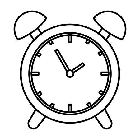 alarm clock time reminder icon vector illustration design Illustration