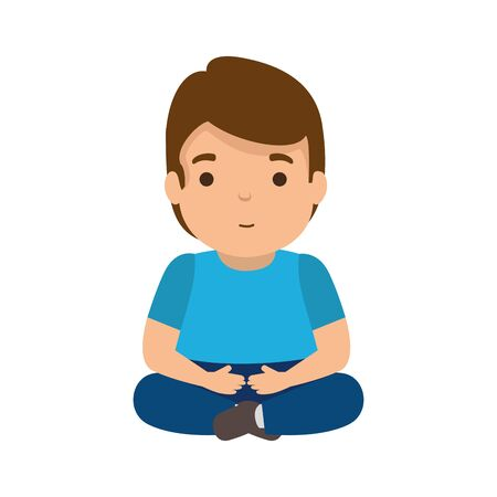 young man seated avatar character vector illustration design Foto de archivo - 125882944