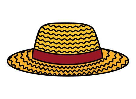 female gardener straw hat vector illustration design Banco de Imagens - 126102633