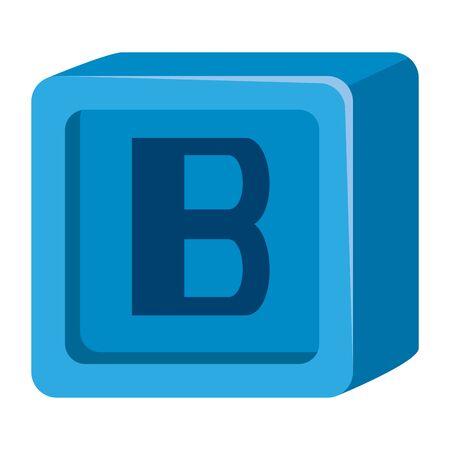 alphabet block toy baby with letter b vector illustration design Banco de Imagens - 126138610