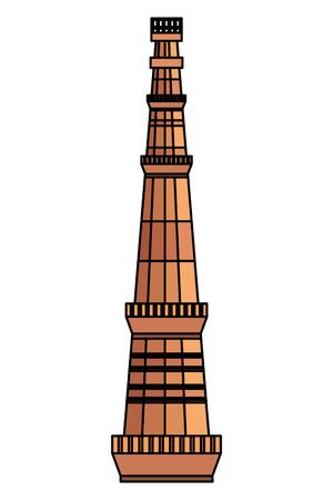 jama masjid famous tower icon vector illustration design  イラスト・ベクター素材