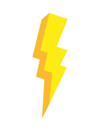 thunderbolt power pop art element vector illustration Vectores
