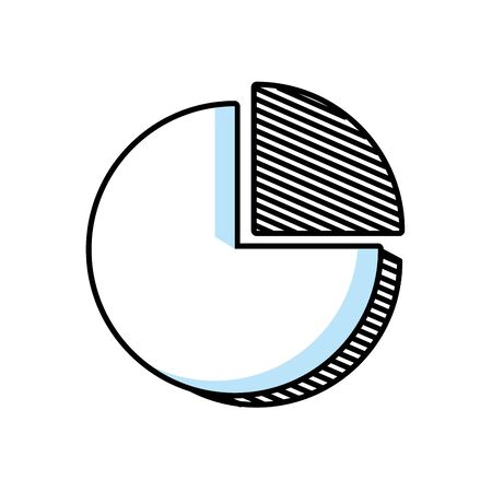 pie infographic isolated icon vector illustration design Çizim