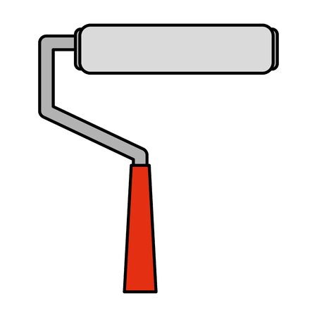 paint roller tool isolated icon vector illustration design