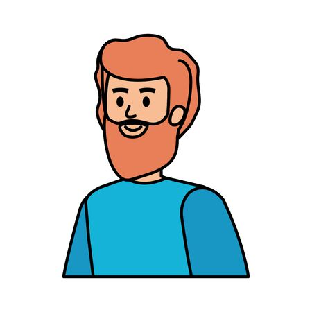 young man with beard character vector illustration design Illustration