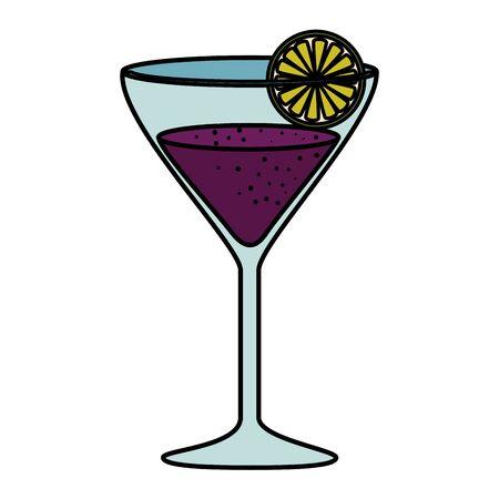 fruits cocktail graphic design vector illustration