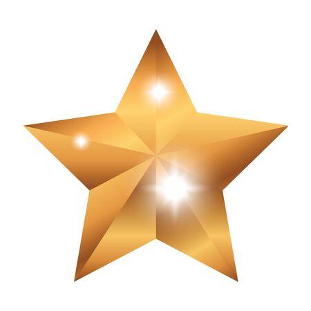 premio stella icona isolata illustrazione vettoriale design
