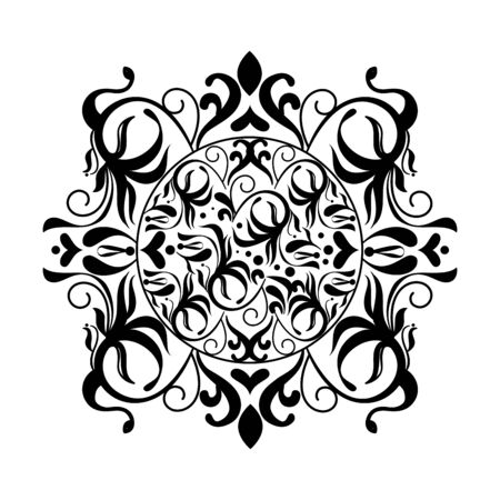 frame monochrome victorian style vector illustration design 일러스트