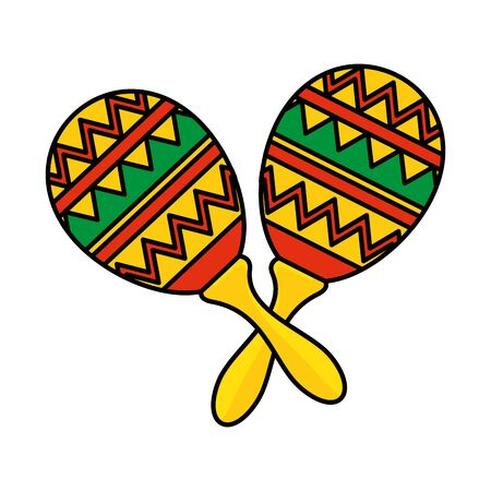 mexican maracas isolated icon vector illustration design 写真素材 - 126320628