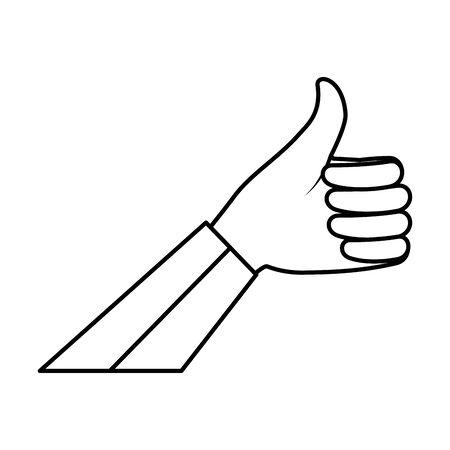 hand human ok symbol vector illustration design Illustration