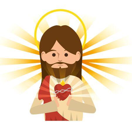 jesus christ religious character vector illustration design Reklamní fotografie - 126380288