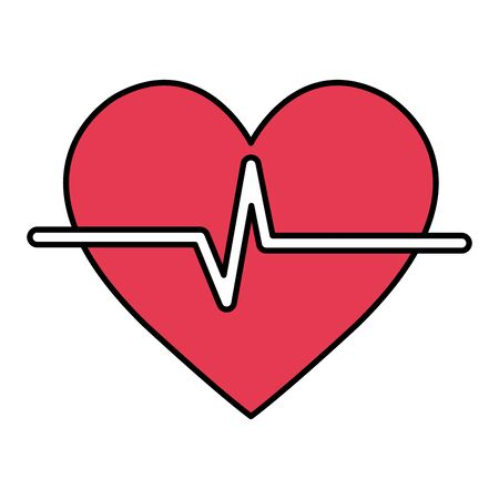 heart cardio isolated icon vector illustration design Banque d'images - 126362208