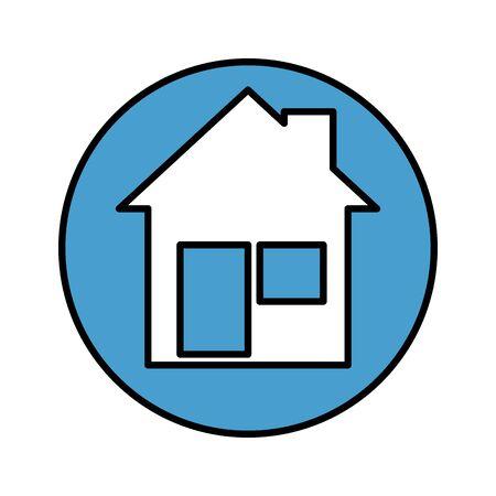 house facade isolated icon vector illustration design Illustration