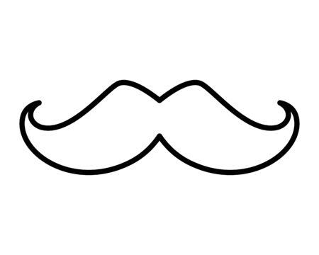 comic mustache style hipster icon vector illustration design