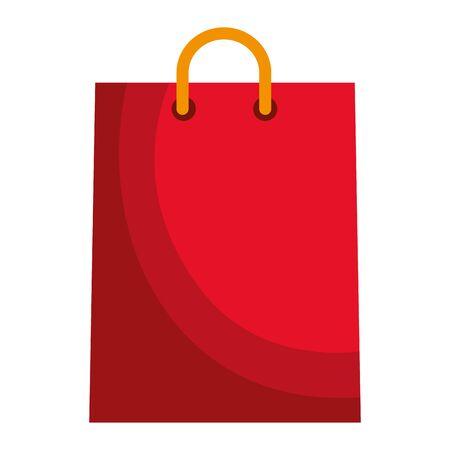 shopping bag paper isolated icon vector illustration design