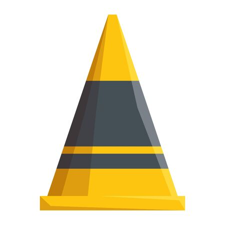 construction cone tool isolated icon vector illustration design