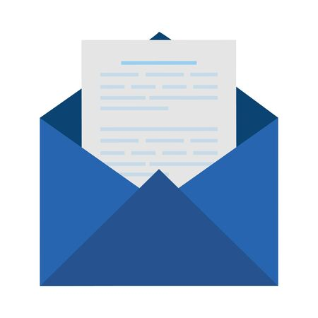 envelope mail social media icon vector illustration design