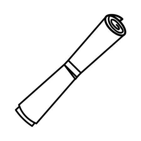 graduation diploma roll paper icon vector illustration design 向量圖像