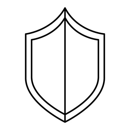 security shield guard isolated icon vector illustration design Illustration