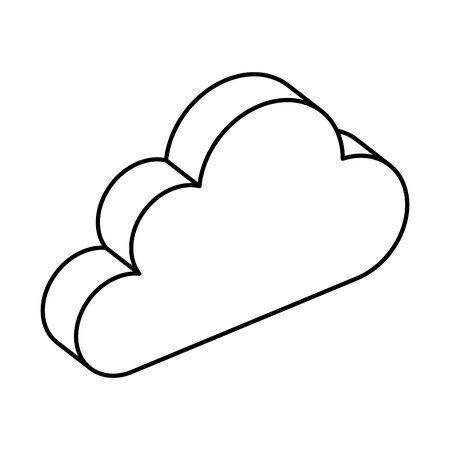 cloud computing data center icon vector illustration design