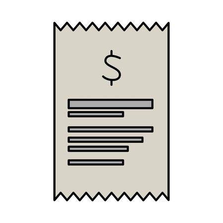 receipt paper isolated icon vector illustration design Illustration