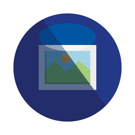 picture file photo format icon vector illustration design  イラスト・ベクター素材