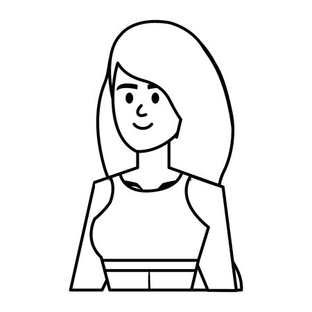 beautiful girl with swimsut avatar character vector illustration design Banque d'images - 126451417