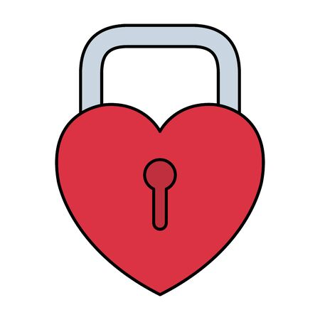 padlock with heart shape icon vector illustration design