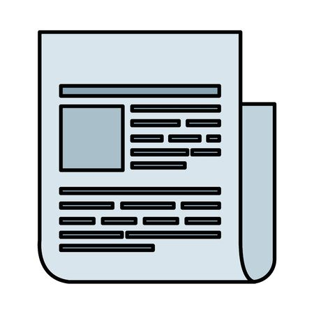 disegno dell'illustrazione vettoriale dell'icona del file di documento cartaceo