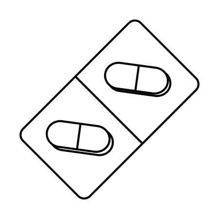 capsules drugs medial isolated icon vector illustration design Иллюстрация
