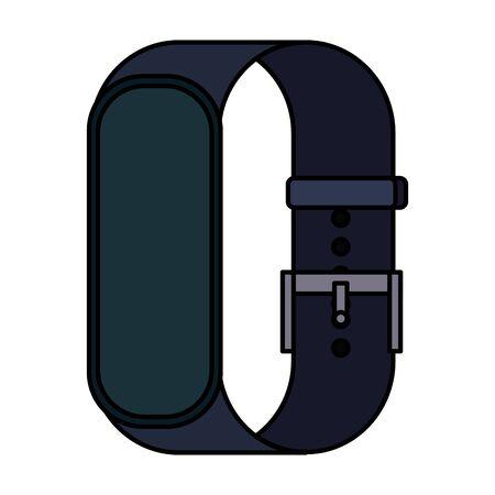 smartwatch weareable technology device vector illustration design Illustration