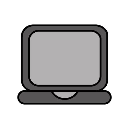 laptop computer isolated icon vector illustration design Imagens - 126477734