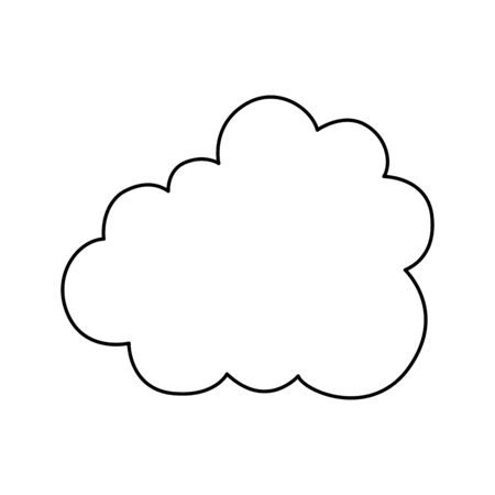 cloud silhouette isolated icon vector illustration design 向量圖像