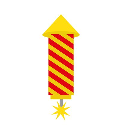 rocket firework isolated icon vector illustration design