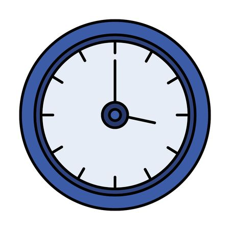 time clock isolated icon vector illustration design Banque d'images - 126533287