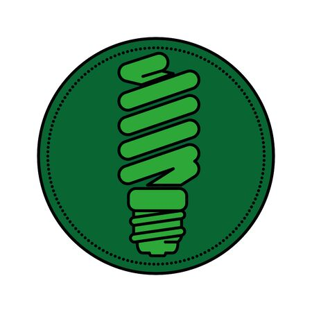 saver bulb energy icon vector illustration design  イラスト・ベクター素材