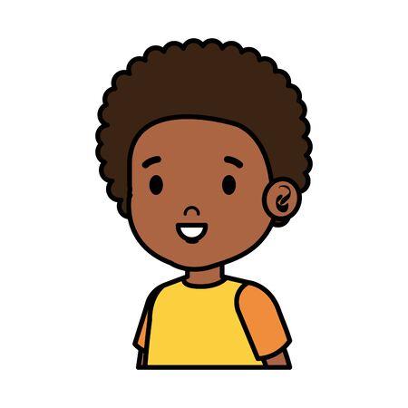 little african boy kid character vector illustration design Ilustração