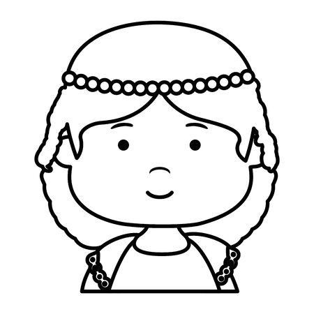 Petite fille première conception d'illustration vectorielle de caractère de communion