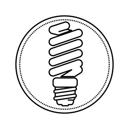 Diseño de ilustración de vector de icono de energía de bombilla de ahorro
