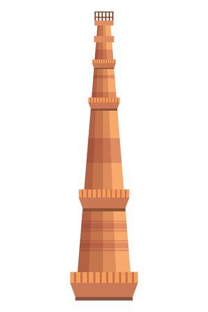 jama masjid famous tower icon vector illustration design  イラスト・ベクター素材